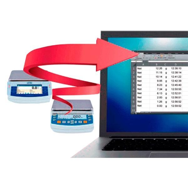 USB free link  comunicación directa balanza pc